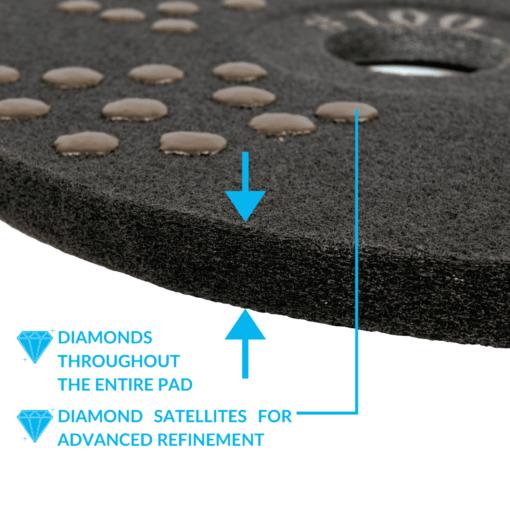Concrete DNA Diamond Satellite Pads