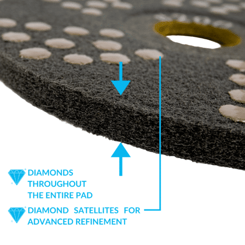 Concrete DNA Diamond Satellite Pads