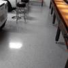 garage floor medium broadcast epoxy color chips