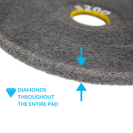 Double Sided Diamond Concrete Floor Pad 200