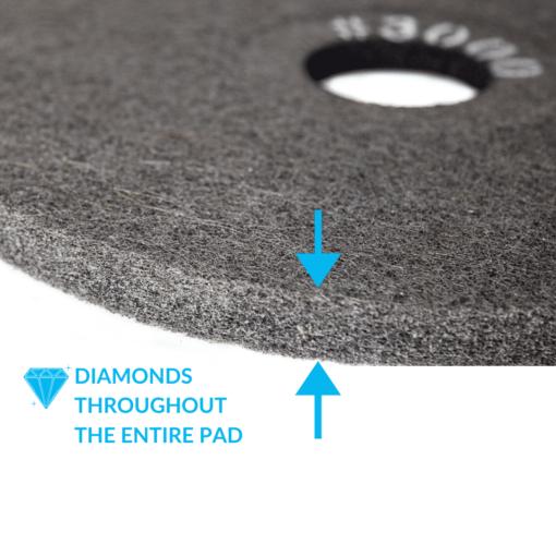 Double Sided Diamond Concrete Pad 3000