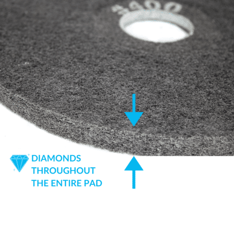 Double Sided Concrete Diamond Pad 400
