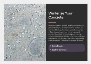 concrete sealing winter