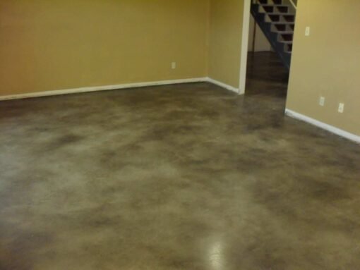 matte finish urethane on stained concrete