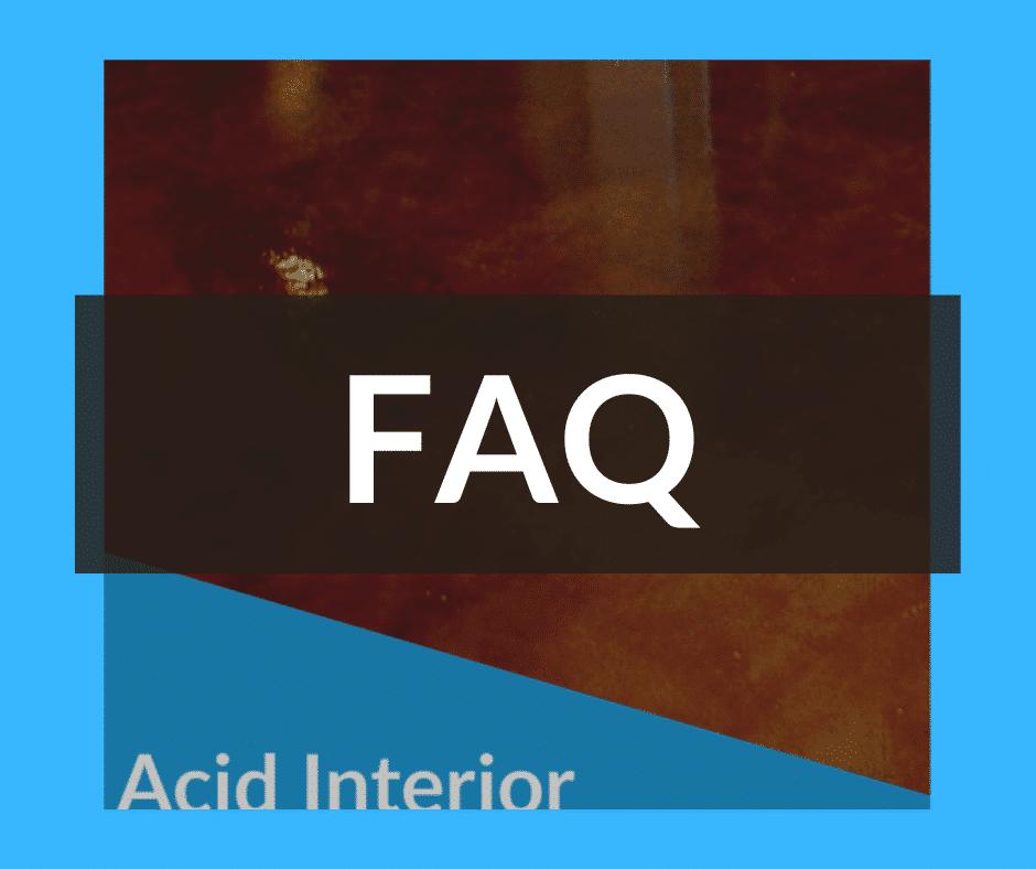 acid interior stain
