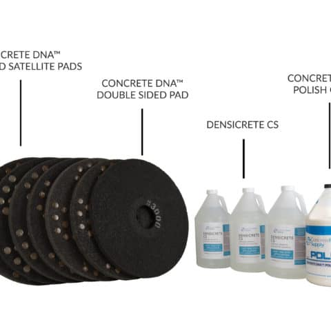 concrete floor polish system